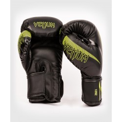 Gants kick boxing Venum impact noir/vert fluo