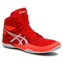 Chaussures boxe Asics matflex6 rouge/blanc