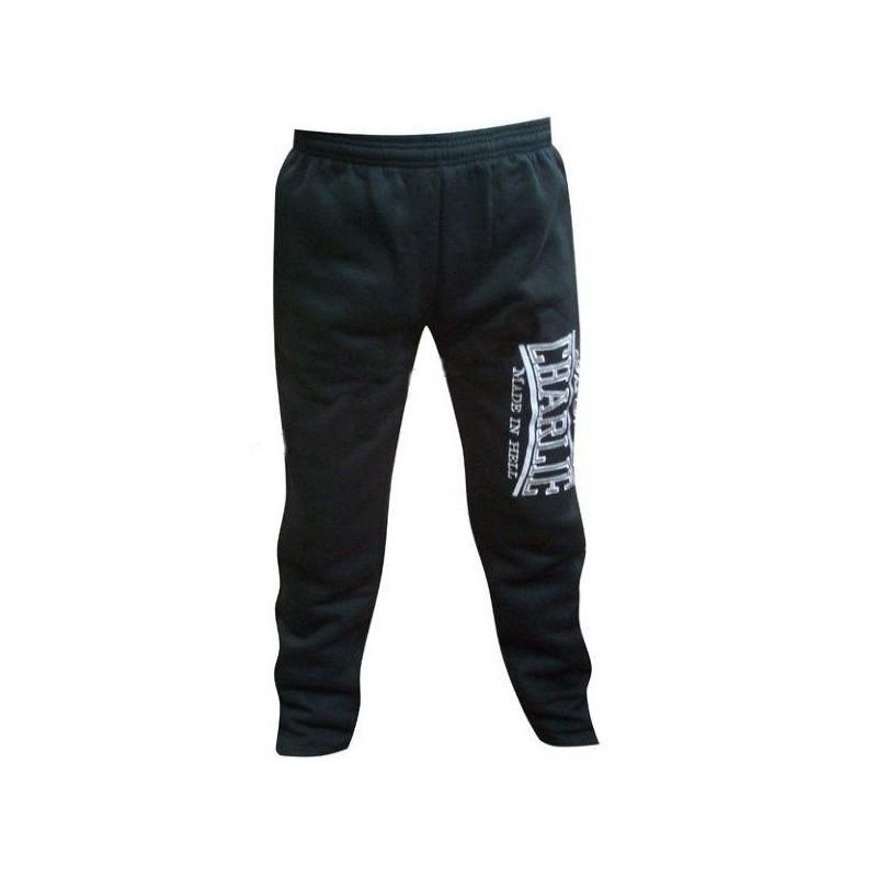Pantalon en coton noir Charlie