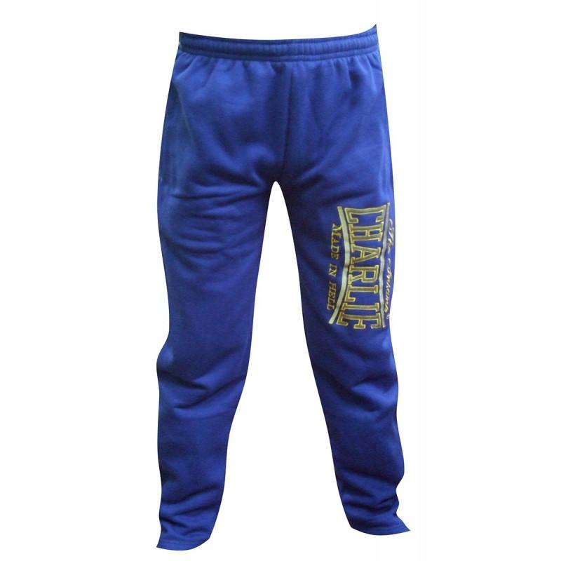 Pantalon en coton bleu Charlie