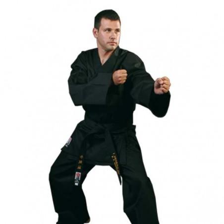 Kimono noir Daedo + ceinture blanche
