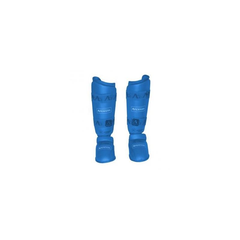 Protège-tibias de karaté Arawaza bleu