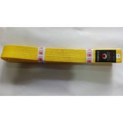 Cinturon blanco amarillo Nkl