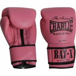 Gants de boxe Charlie Bat-x (roses)