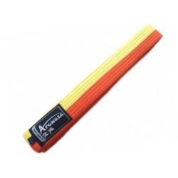 Ceinture Karate Arawaza jaune-orange