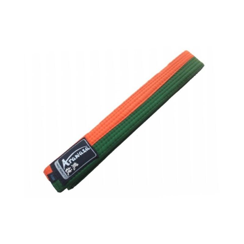 Ceinture Karate Arazawa orange/vert