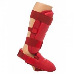 Protége-tibias de Karate Adidas 661.35 approuvées rouge