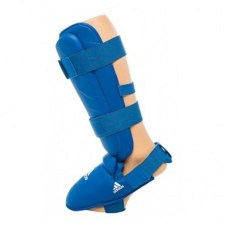 Protège-tibias de Karate Adidas 661.35 approuvées bleu