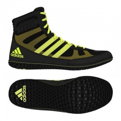 Botes de boxe Adidas Mat Wizard 3 noir/jaune