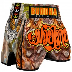 Short de Muay Thai Buddha Retro Tiger