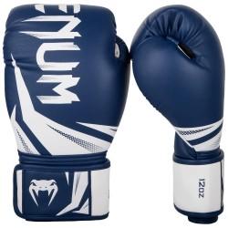 Gants boxe Venum challenger 3.0 bleu/blanc