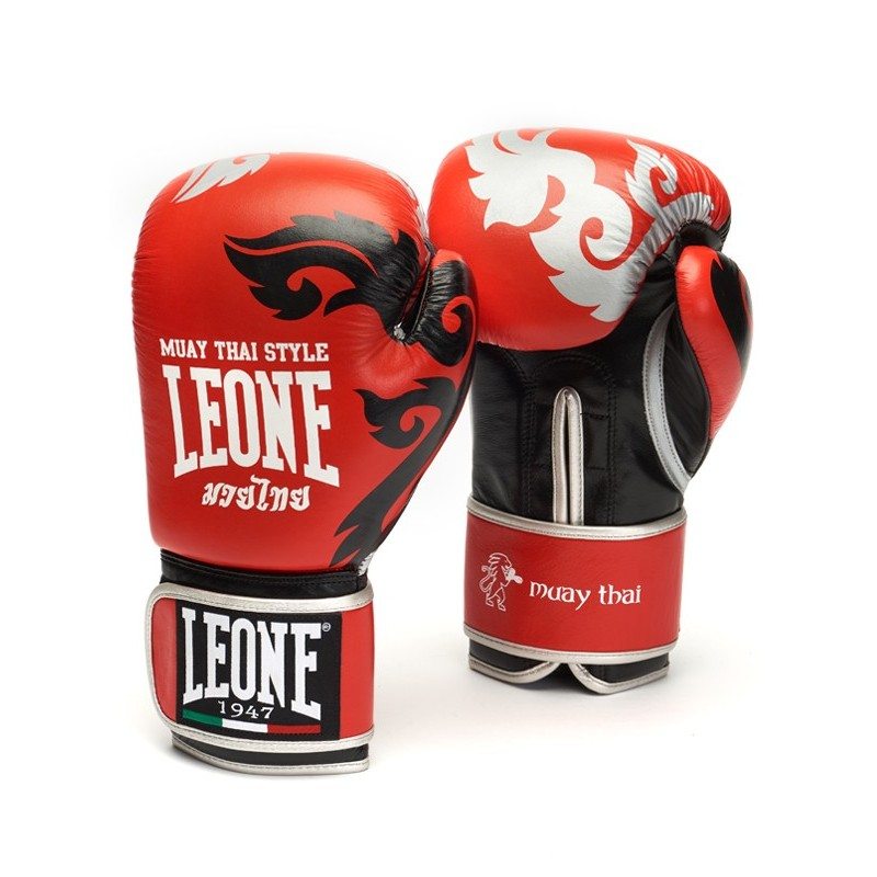 Gants Leone Muay thai rouge